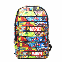 15 Style School Youth Trend The Avengers Star Wars Comics Collection Backpack 2016 New Ladies Female Man School Bags Backpack