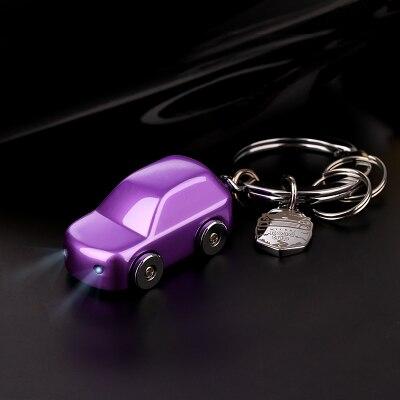 Milesi - New 2017 Brand LED Car Key chain Keychain Key Holder Zinc Alloy Rings for Men Women Couple Novelty Gift innovative