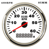 85mm  52 mm Boat Tachometer with LCD Hourmeter 4000 6000  8000RPM Tachometer for Diesel Gasoline Engine Marine Car Tacho Meter review