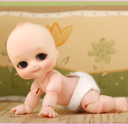 1/8 scale BJD about 10cm pop BJD/SD cute kid NAPPY CHOO Resin figure doll DIY Model Toy gift.Not included Clothes,shoes,wig