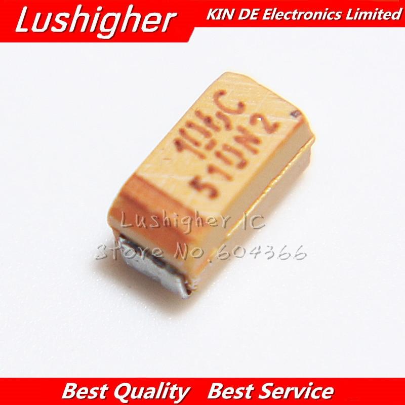 100 PCS 10UF/16V 1206 A CASE 3216-18 SMD Tantalum capacitor 16V 10UF Industrial Capacitors