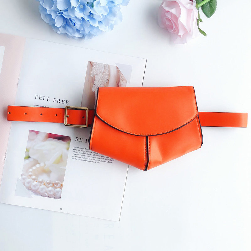 Women Fanny Pack With Belt Mini Simple Leather Waist Bag For Ladies Girls BS88