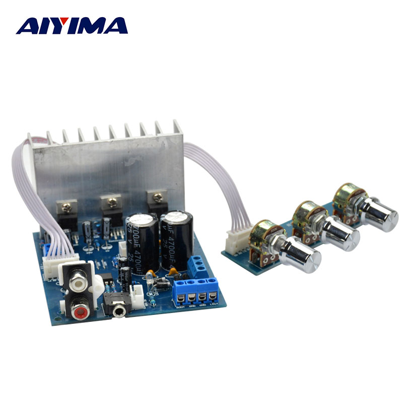 AIYIMA Power Amplifiers Audio Board 2.1 ST TDA2030A Stereo Amplifier DIY For Home Theater Sound System