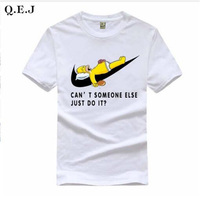 2016 New Letter Print T Shirt Mens Black And White Comic Con Cosplay T Shirts Summer