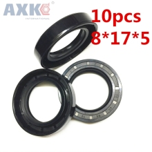 AXK 10pcs  VC8x17x5  Skeleton Oil Seal 8*17*5 Seals  high-quality Seals Radial shaft seals