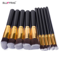 BLUEFRAG 10 Pcs Makeup Brushes Superior Professional Soft Cosmetics Make Up Brush Set Kabuki Brush Kit