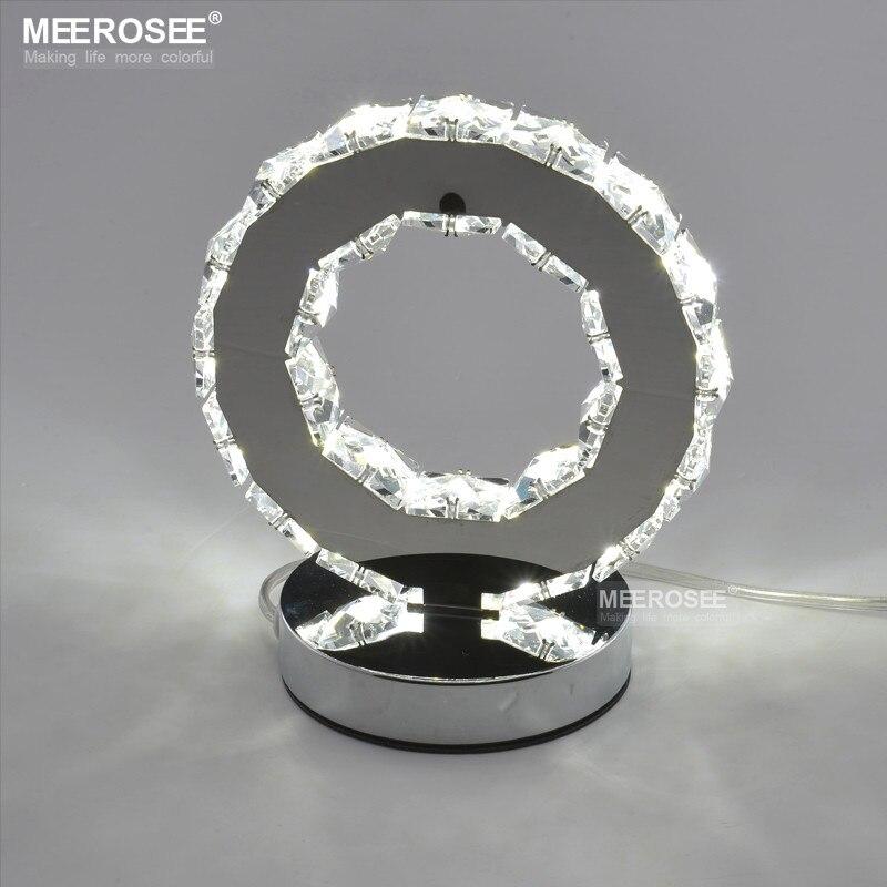 Светодиодный Кристалл кольцо Настольный светильник светодиодный свет чтения тумбочка свет настольная лампа