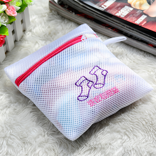 Fashion Thickened Double Layer Zippered Mesh Underwear Laundry Bag Clothes Protector Washing Bra Wash Bags In Baskets From Home