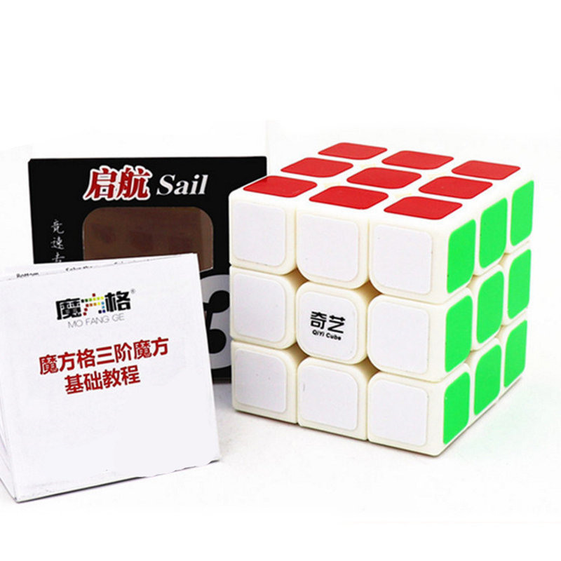 XMD QIYI Cube 3x3 Magic Cubes Professional 3x3x3 5.6CM Sticker Speed Twist Puzzle Toys for Children Gift Cube qiyi mofangge valk3 power m magnetic 3x3x3 speed magic cube for wca professional toys for children valk 3 puzzle cube