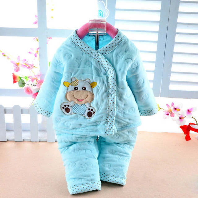 Newborn Baby Girls Clothes Winter Set Thermal Underwear Clothes Babyworks Infant Long Sleeve Clothes Babies Set CL0712