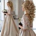 Vestido De Noiva 2017 Elegant Wedding Gowns Bridal Dresses Popular Vintage A Line Half Sleeves Lace Wedding Dresses 2017
