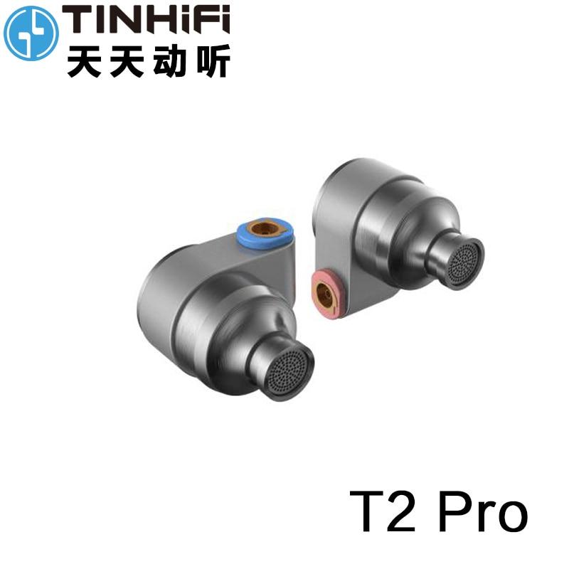 TIN Audio T2 Pro In Ear Earphone Double Dynamic Drive HIFI Bass Earphone DJ Metal Earphone