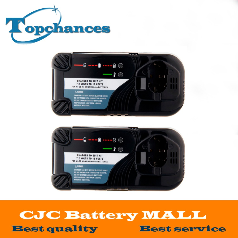 2X High Quality Universal Cordless Drill Battery Charger For Hitachi NI-CD NI-MH Li-lon 7.2V -18V Battery UC14YFA UC18YG UC18YRL bcl1415 14 4v ni cd ni mh battery for hitachi bcl1415 18v ni cd ni mh battery