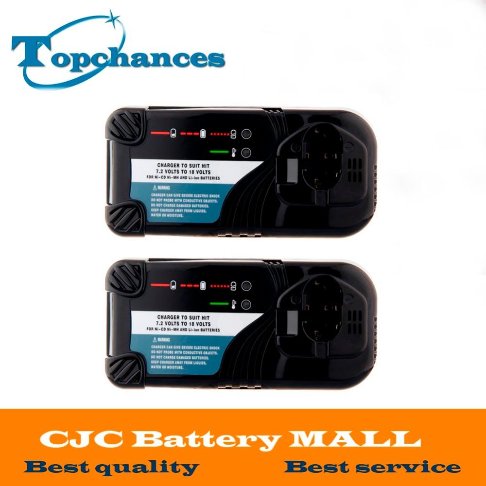 2X High Quality Universal Cordless Drill Battery Charger For Hitachi NI-CD NI-MH Li-lon 7.2V -18V Battery UC14YFA UC18YG UC18YRL hitachi uc18yrl