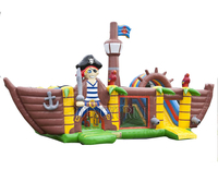 Inflatable Pirate Ship Bounce House Construction Truck Inflatable Bouncy Castle House for Kids Party
