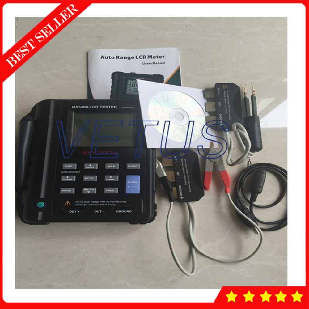 MS5308 High Precision Professional LCR Digital Bridge Meter Auto Range Tester Inductance Capacitance Resistance Tester diy lcr digital electric bridge resistance capacitance inductance esr meter kit set