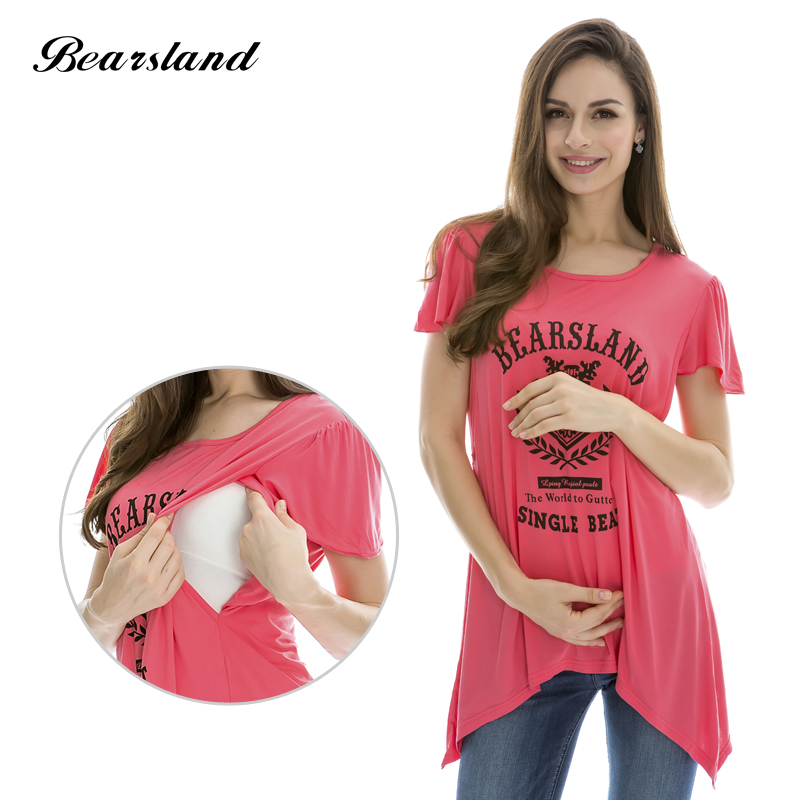 Wholesale Maternity Nursing Tops Fashion summer Maternity clothes Breastfeeding T-shirt for Pregnant Women