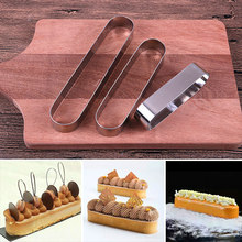 Stainless Steel Cake Making Molds Long Oval Tiramisu Mousse Mould Baking Supplies LXY9 FE22 цена