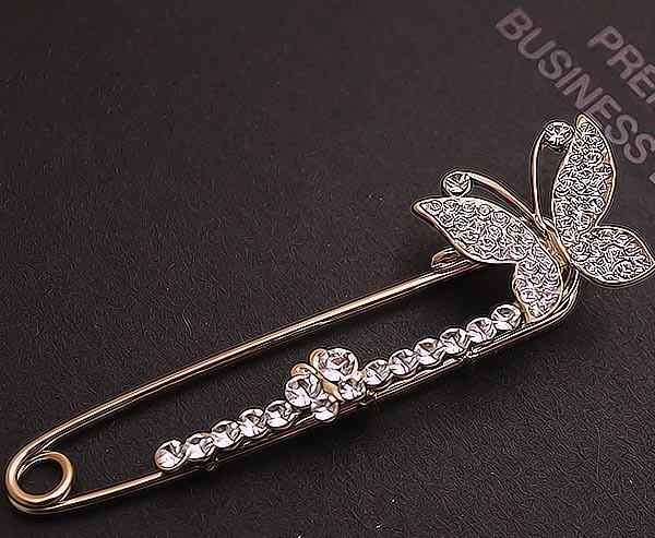 Baru Natal Hadiah Pesta Halloween Gaya Korea Perhiasan Berkualitas Tinggi Mulia Fesyen Bros Kupu-kupu Pin Korsase