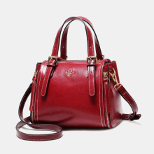 AOEO Luxury Handbags Women Bags Designer 2019 Bucket Ladies Crossbody Bag Split Leather Large Vintage Elegant Woman Shoulder