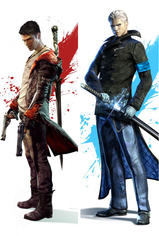 Devil may cry Dante Vergil Dakimakura / Hugging Pillow Case #1004(full color) - zou wenfeng's store