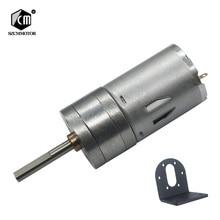 16 об/мин-1360 об/мин микро низкая скорость Малый мотор-редуктор с 25 мм* 4 мм Длинный выходной вал с кронштейном l-образный монтаж DC редуктор ed мотор