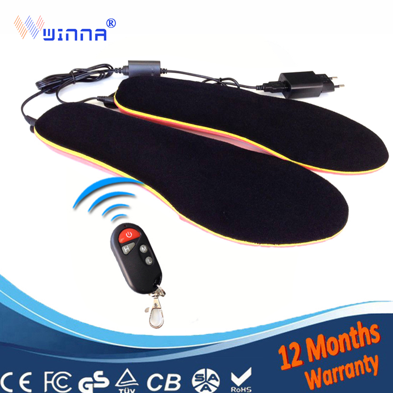 NEW Rechargeable heated insoles heating insoles Winter thick insole Wool Warm with fur  keep warm feet for women and men shoes-in Insoles from Shoes    1