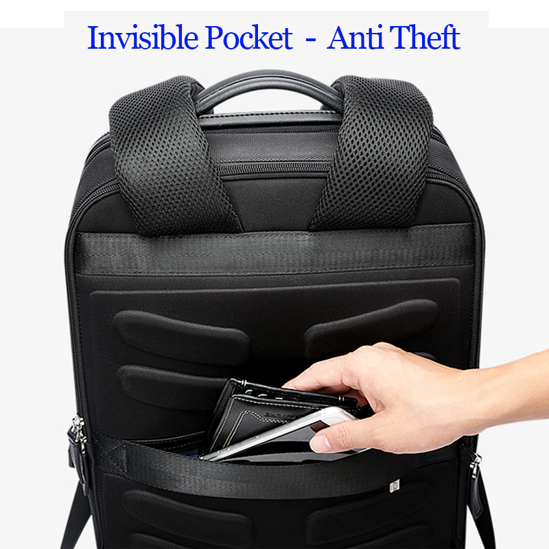 BOPAI Detachable 2 in 1 Laptop Backpack USB External Charge Shoulders Anti theft Backpack Waterproof Backpack Men for 15.6 inch - 4