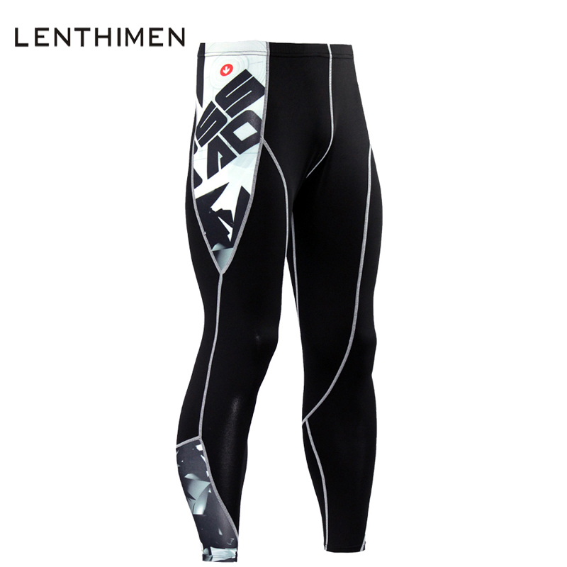 High Quality Mens Compression Pants Fitness Tights Bodybuilding Men Trousers 3D Print Teen Wolf Soft Leggings MMA Brand Joggers