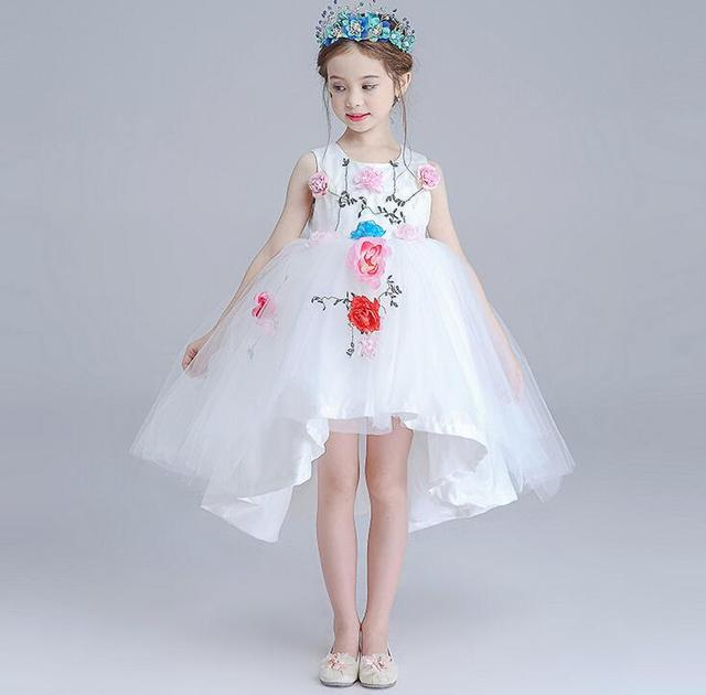Top Quality White Lace Trailing Flower Girl Dresses For Weddings ...