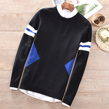 Suehaiwe designer autumn and winter woolen slim wool sweaters male knitting tops men