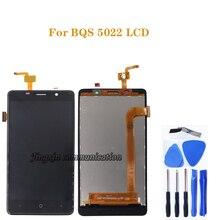 ل BQ BQS 5022 شاشة الكريستال السائل محول الأرقام بشاشة تعمل بلمس مكون استبدال ل BQ S 5022 شاشة شاشات كريستال بلورية أداة مجانية