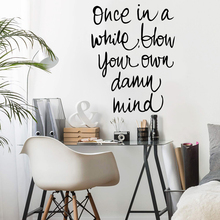 Wall Decal english sentences Self Adhesive Vinyl Wallpaper For Living Room Bedroom Decoration Accessories