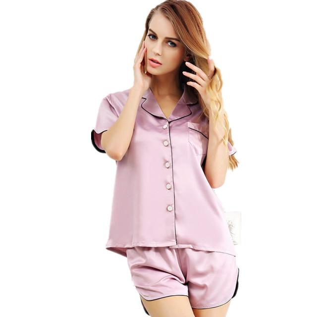 Nova Chegada de Duas Peças das Mulheres Sono & Lounge Pijama Curto Conjuntos SleeveBest Venda roupa de Dormir Feminina High-Grade Presente itens