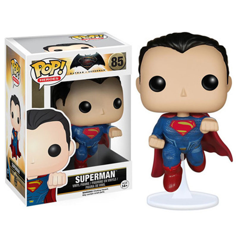 Funko POP Superman 85# Batman VS Superman Dawn of Justice Super Hero 10cm PVC Model Toy Collection Doll Decoration Hot sell  marvel deadpool funko pop super hero pvc ow batman action figure toy doll