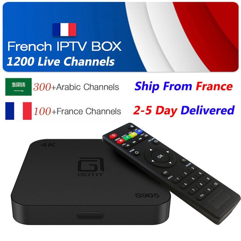 French IPTV S905 Android 7.1 Smart TV BOX 1G 8G 1200+ NEOTV France Arabic Belgium Morocco PayTV & VOD smart Set top tv Box m3u belgium culture smart