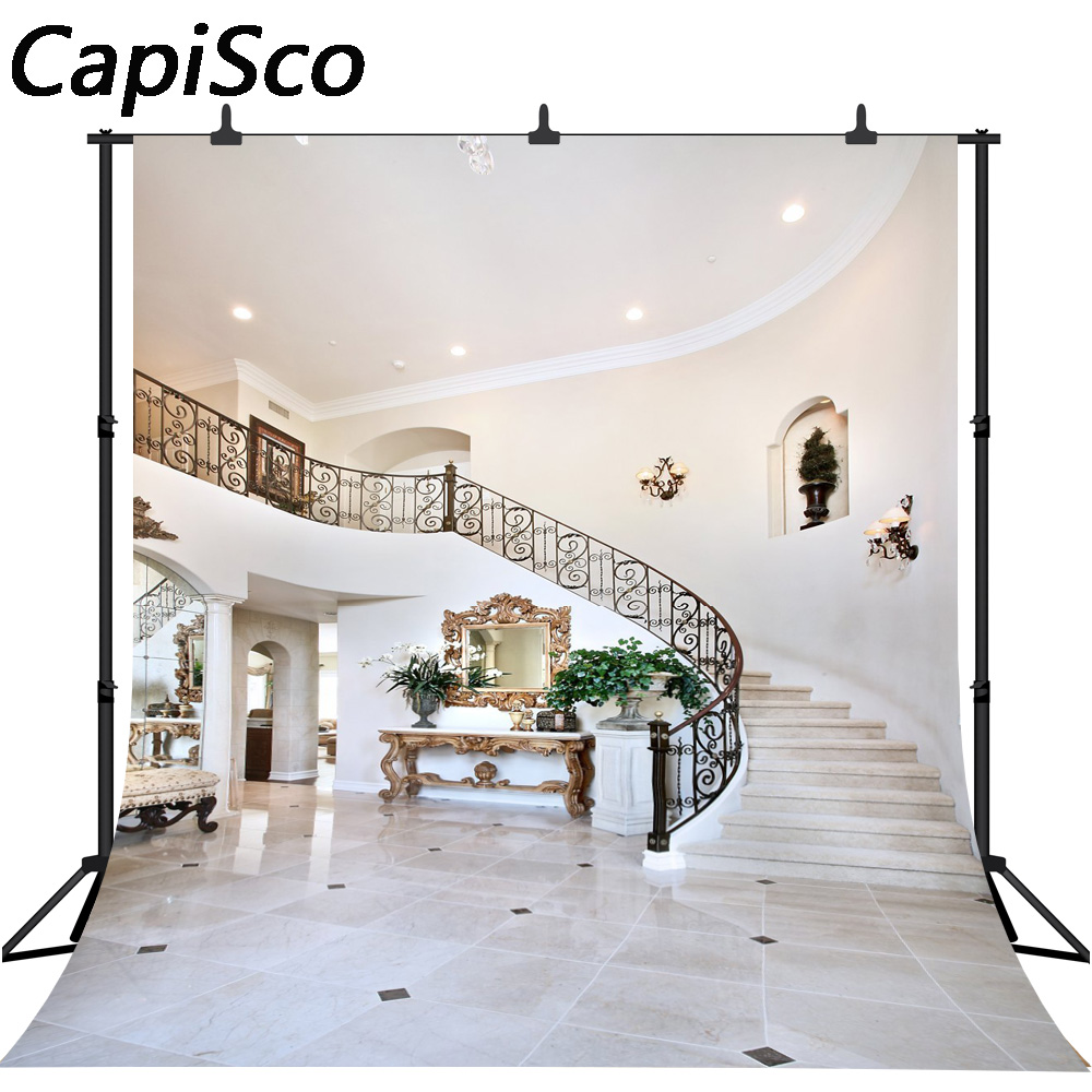 YEELE 12x8ft Bedroom Backdrop Big Comfortable Double Bed in Elegant Classic Style Interior Design Photography Background Home House Church Decoration Artistic Portrait Photo Studio Props Wallpaper