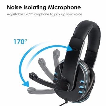 Модная игровая гарнитура с микрофоном, стерео объемные наушники, проводные наушники 3,5 мм для PS4 Xbox PC Xboxone