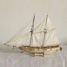 1:100 Весы Ручной работы деревянный парусник корабль наборы деревянные модели кораблей сборки подарок на день рождения Сувениры игрушки