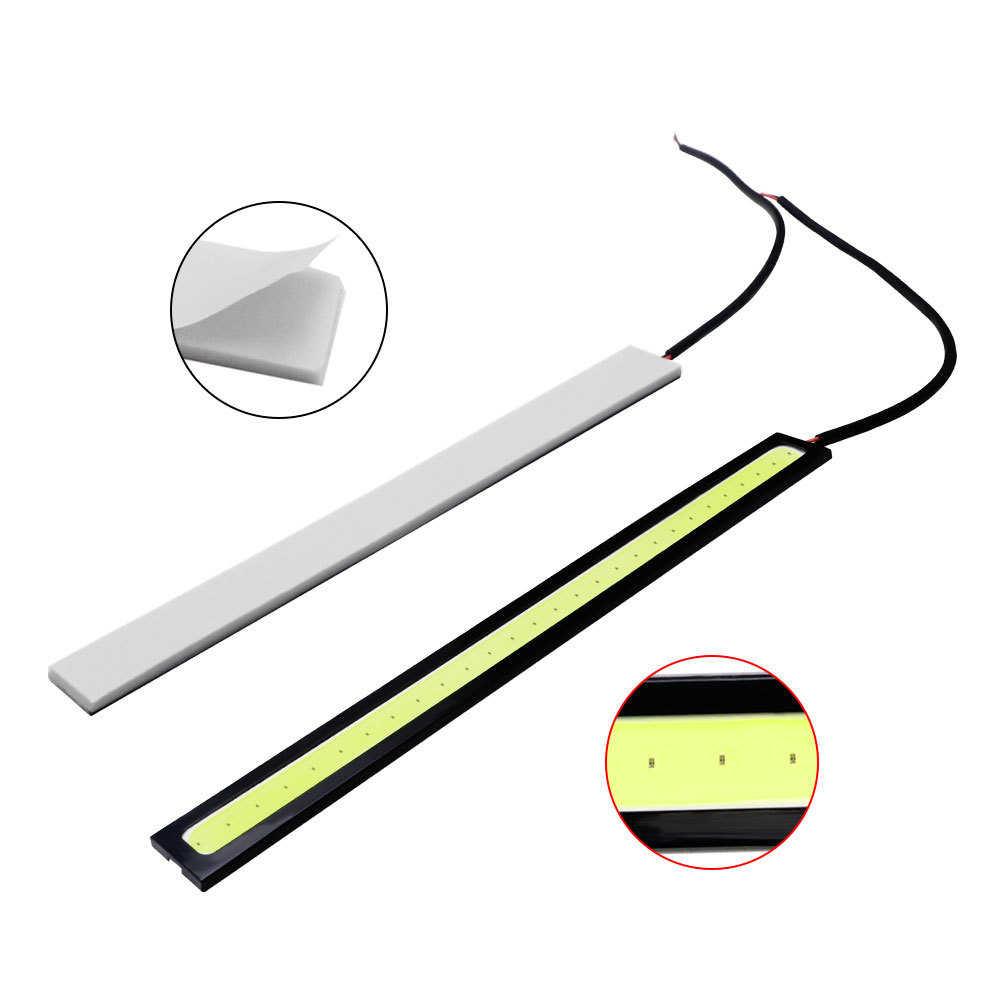 1 sztuk 17cm uniwersalny światła do jazdy dziennej COB DRL LED lampa samochodowa światła zewnętrzne Auto wodoodporna światła LED do stylizacji samochodu lampa DRL