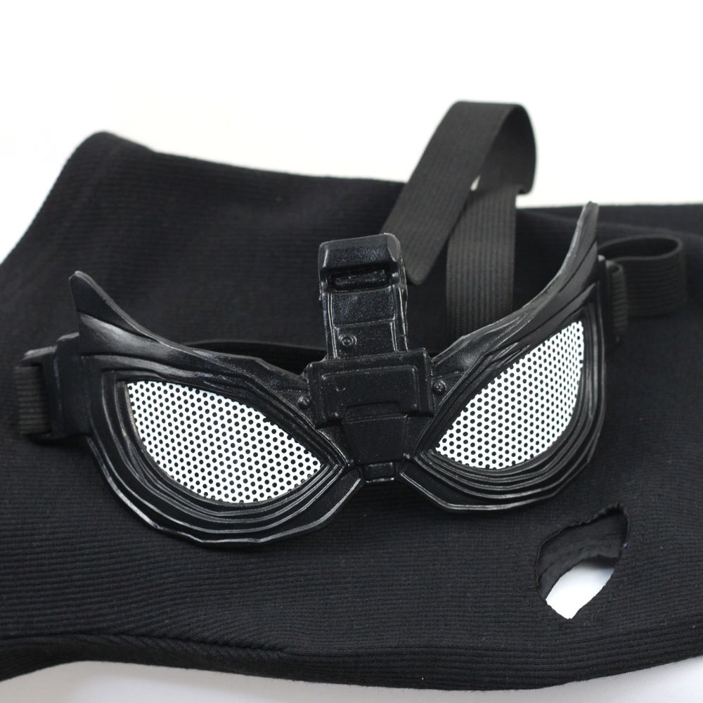 Купить с кэшбэком Marvel Movie Spider-Man Superhero Far From Home Stealth Suit Cosplay Mask Glasses Black Full Head Hood Halloween Party Props