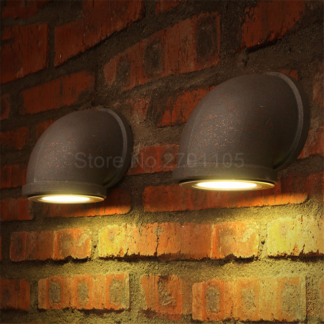 Modern creative water pipe style vintage wall lamp restaurant bar modern creative water pipe style vintage wall lamp restaurant bar led wall lights outdoor retro wall aloadofball Gallery