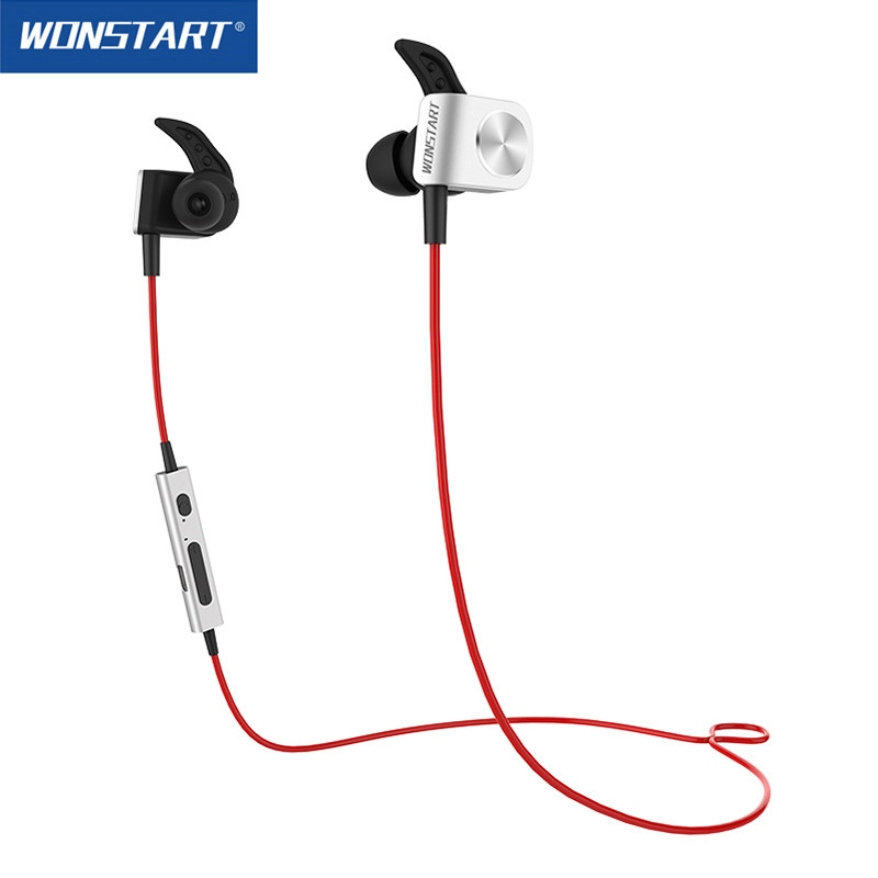 Magnetic Bluetooth Headphones Stereo Aptx Wireless Earphones Noise Cancelling BT4 1 Wonstart Red TS03 With Volume