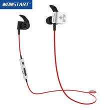 Magnétique Bluetooth Casque Stéréo Aptx Sans Fil Écouteurs Antibruit BT4.1 Wonstart Rouge TS03 Avec Volume Commande Vocale