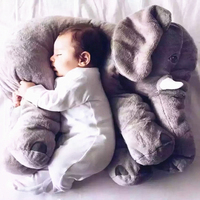Free Shipping 60 45CM Colorful Giant Elephant Stuffed Animal Toys Plush Pillow Baby Doll Birthday Gift