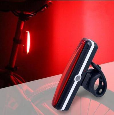 USB <font><b>Rechargeable</b></font> Bicycle Rear <font><b>Light</b></font> Cycling LED Taillight Waterproof <font><b>Bike</b></font> Tail <font><b>Light</b></font> <font><b>Back</b></font> Lamp for bycicle image