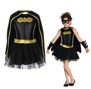 Child Girls Batman Batgirl Fancy Dress Tutu Superhero Costume Outfits Comic 4PCS