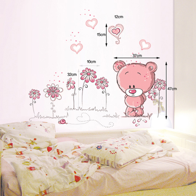 Love Bear 100*75cm Wall Covered 6