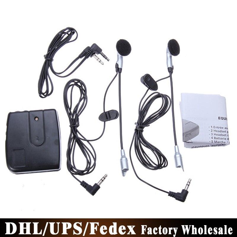 Motorcycle Helmet Earphone Intercom Communication-System Headset DHL 2-Way 100pcs