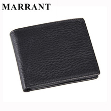 MARRANT100% Men's Genuine Leather Wallets Credit Card Holder Slim Purse Gift mens genuine real leather wallets with coin purses